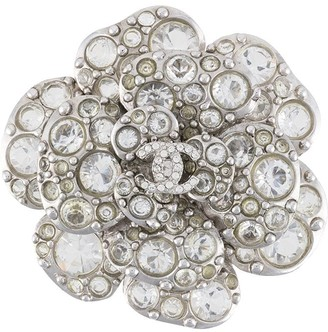 Chanel Pre Owned 2005 Crystal Camellia Brooch