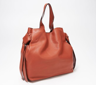 Vince Camuto Leather Tote with Knot Detail - Cyra