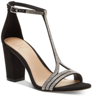 INC International Concepts Inc Keyla T-strap Evening Sandal, Created for Macy's Women's Shoes