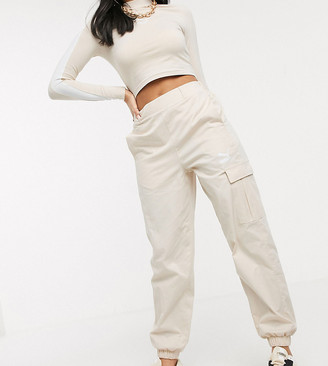 Puma High Waisted Utility Pants in cream exclusive to ASOS