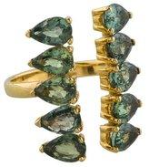 Ileana Makri 18K Green Sapphire Deco Column Ring