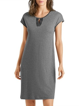 Hanro Fia Short-Sleeve Sleep Gown