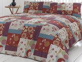 N. 'Oriental Patchwork' Double Duvet Cover Set in Spice, Includes: 1x Double Duvet Cover and 2x Pillowcases