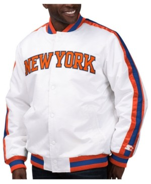 Starter Men's New York Knicks The D-Line Starter Satin Jacket