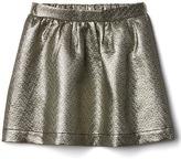 Gap Metallic jacquard flippy skirt