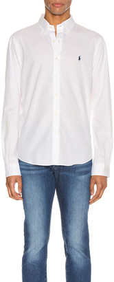 Polo Ralph Lauren GD Chino Long Sleeve Button Up Shirt in White | FWRD