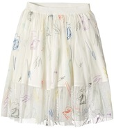 Stella McCartney Darci Tulle Skirt with Skates Embroidery Girl's Skirt