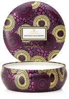 Voluspa Japonica Limited 3 Wick Decorative Santiago Huckleberry Tin Candle