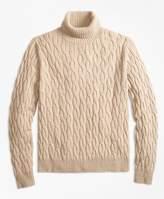 Brooks Brothers Merino Wool Cable Turtleneck Sweater