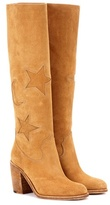 McQ Suede knee-high boots