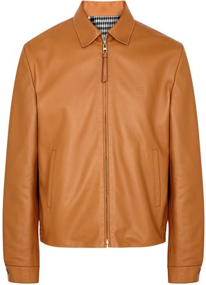 Loewe Tan Reversible Leather Jacket