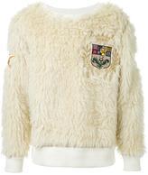 Dresscamp textured chest patch sweatshirt
