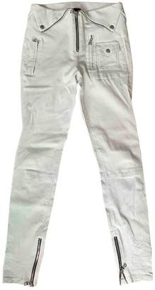 RtA Ecru Leather Trousers