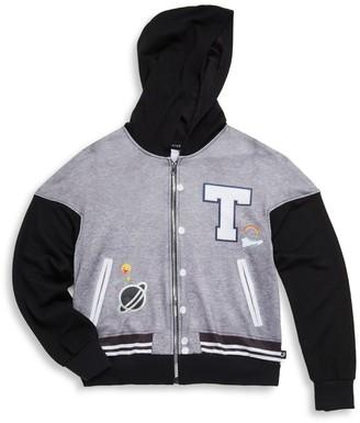 Terez Girl's Varsity Printed Jacket