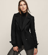 Reiss Lillie Wool-Blend Button-Front Coat