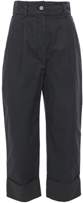 Acne Studios Cropped Cotton-twill Straight-leg Pants
