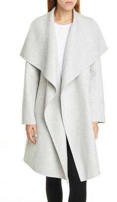 Nordstrom Signature Cascade Collar Double Face Wool & Cashmere Coat
