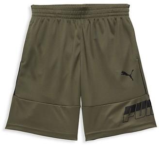 Puma Little Boy's Logo Mesh Shorts