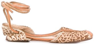 Kenzo Pre Owned 1980's Leopard Print Ballerina Shoes