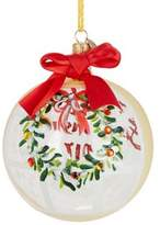 Lord & Taylor Our First Home Wreath Print Ball Ornament