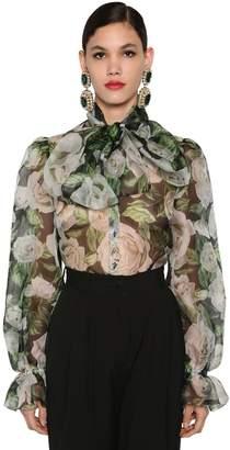 Dolce & Gabbana SILK ORGANZA SHEER COLLAR SHIRT