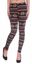 Fuchsia Snowflake Faux Fur-Lined Textured Leggings