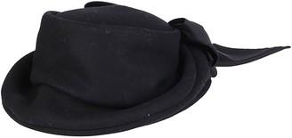 CA4LA Black Wool Blend Hat