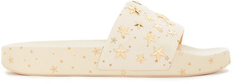 Tory Burch Star Studded Printed Leather Slides