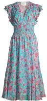 Shoshanna Ziara Floral Ruffle Dress
