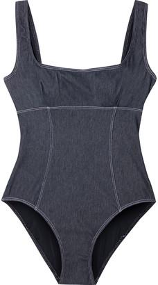 Solid & Striped The Harper Stretch-denim Swimsuit