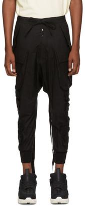 Unravel Black Tech Cotton Cargo Pants