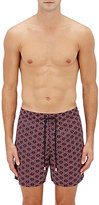 Vilebrequin Men's Anchor-Print Swim Trunks-NAVY