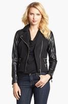 MICHAEL Michael Kors Knit & Faux Leather Moto Jacket