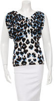 Roberto Cavalli Printed Off-The-Shoulder Top