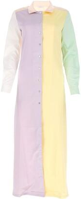 Oseree Colour Block Shirt Dress