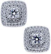 Macy's Diamond Square Cluster Stud Earrings (1-1/10 ct. t.w.) in 14k White Gold