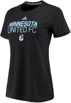 adidas Women's Black Minnesota United FC Performance Locker Stacked T-Shirt