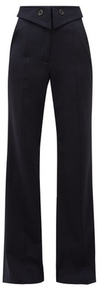 Palmer Harding Palmer//harding - Fused Tailored Wool-blend Trousers - Womens - Navy