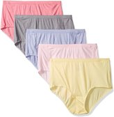 Fruit of the Loom Women's Plus-Size 5 Pack Fit For Me Beyond Soft Brief, Assorted