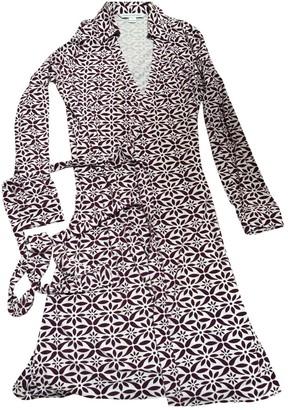 Diane von Furstenberg Burgundy Viscose Dresses