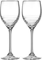 Vera Wang Wedgwood Grosgrain Platinum Wine Glasses - Set of 2