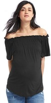 Off-shoulder jersey top
