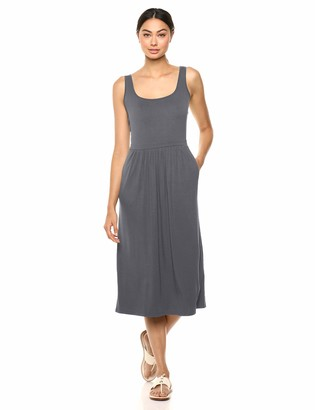 Daily Ritual Women's Jersey Sleeveless Standard-Fit Empire-Waist Midi Dress