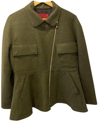 Moncler Gamme Rouge Green Coat for Women
