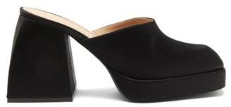 Nodaleto Bulla Geller Satin Platform Mules - Black