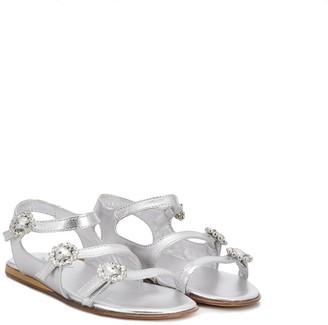 Mi Mi Sol TEEN crystal buckle sandals