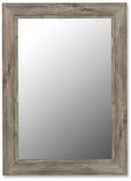 August Grove Coastal Weathered Gray Wall Mirror