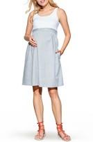 Maternal America Women's Maternity Knit & Woven Dress