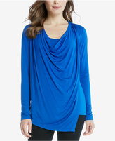 Karen Kane Draped Asymmetrical Top
