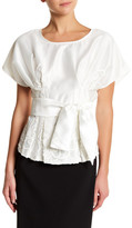 Ark & Co Embroidered Ribbon Blouse